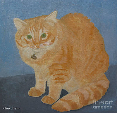 Butterscotch The Cat Art Print