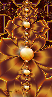 Digital Art - Butterscotch Vine by Karla White