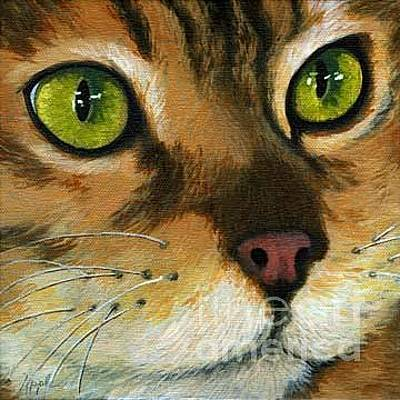 Painting - Butterscotch - Yellow Cat by Linda Apple