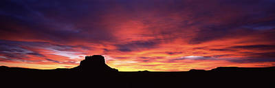Buttes At Sunset, Chaco Culture Art Print by Panoramic Images