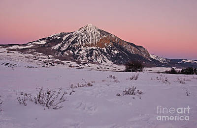 Photograph - Butte's Winter Glow by Kelly Black