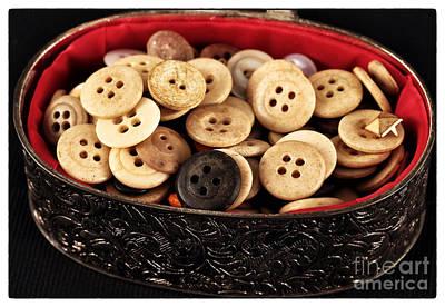 Photograph - Button Treasures by John Rizzuto