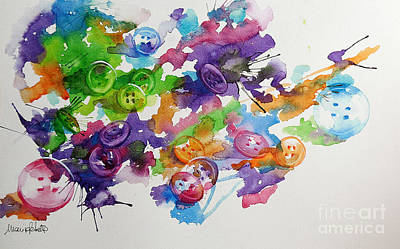 Painting - Buttons by Marisa Gabetta