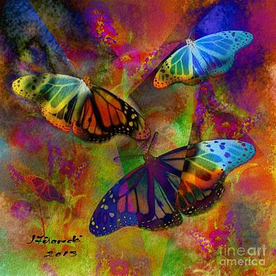 Digital Art - Buttrerfly Collage All About Butterflies by Judy Filarecki