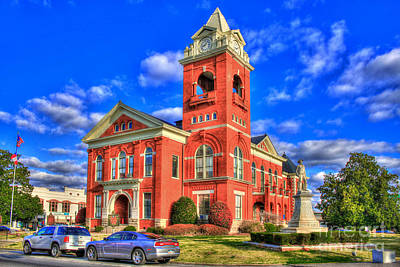 Photograph - Butts County Court House Jackson Georgia by Reid Callaway