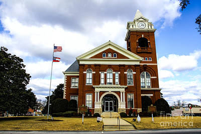Photograph - Butts County Courthouse by Barbara Bowen