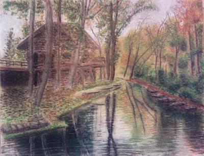 Butts Mill Farm Art Print by Andrew Pierce