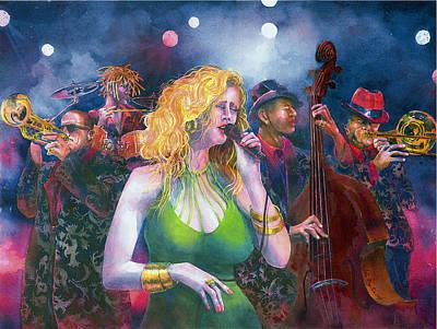Buxom Blondie Original by Jim Bates
