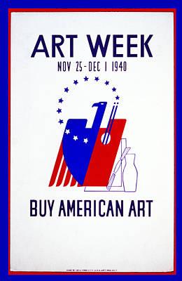 Buy American Week Art Nov 25 - Dec 1 1940  Print by Unknown