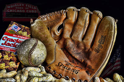 Baseball Gloves Wall Art - Photograph - Buy Me Some Peanuts And Cracker Jacks by Ken Smith