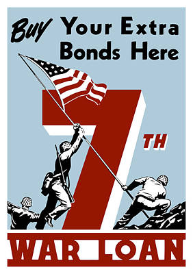 Buy Your Extra Bonds Here Art Print by War Is Hell Store