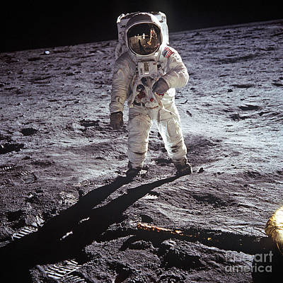 Photograph - Buzz Aldrin On The Moon by Rod Jones