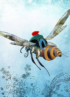 Painting - Buzz Flight by Jean Moore