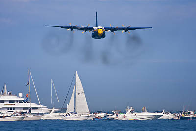 Blue Angels Photograph - Buzzing The Crowd by Adam Romanowicz