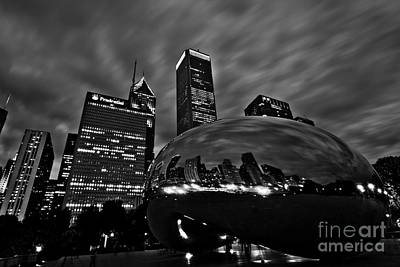Bw Cloud Gate Art Print