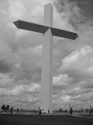 Photograph - Bw Cross by Jeffrey Randolph