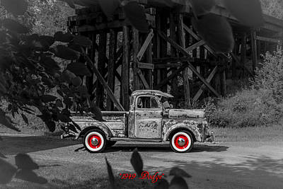 Photograph - Bw Dodge Pickup by Tex Wantsmore