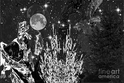 Digital Art - B.w. Eve Of Memory by Asegia