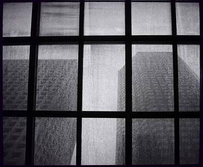 Photograph - Bw Monolith Film Noir Skylight II by Tony Grider