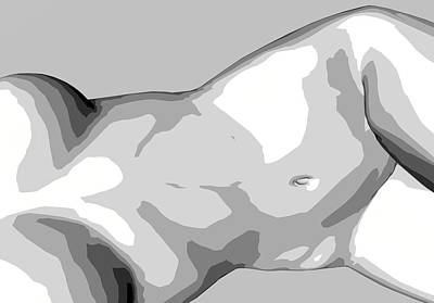 Digital Art - Bw Nude by Louis Ferreira