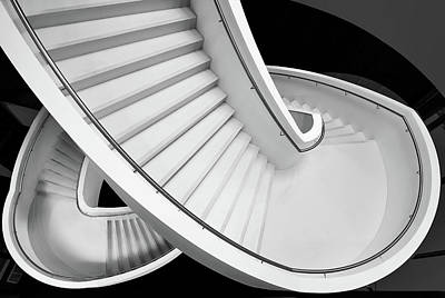 Netherlands Wall Art - Photograph - B&w Staircase by Henk Van Maastricht