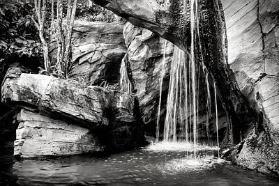Photograph - Bw Waterfal by Rudy Umans