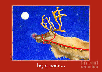 Rudolph Painting - By A Nose... by Will Bullas
