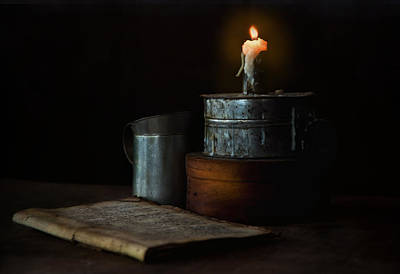 Handmade Book Photograph - By Candlelight by Robin-Lee Vieira