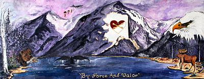 Salmon Painting - By Force And Valor by Judy Swircenski