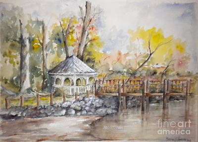 Gazebo At Lake Wylie Art Print
