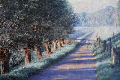 Impressionism Photos - By Road of Your Dream. Monet Style by Jenny Rainbow
