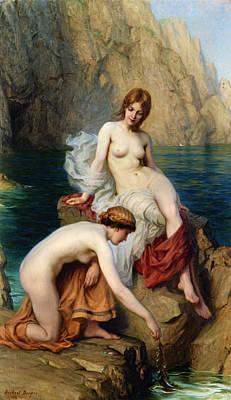 Nudes Digital Art - By Summer Seas by Herbert James Draper