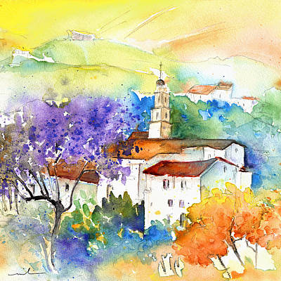 Acuarelas Painting - By Teruel Spain 02 by Miki De Goodaboom