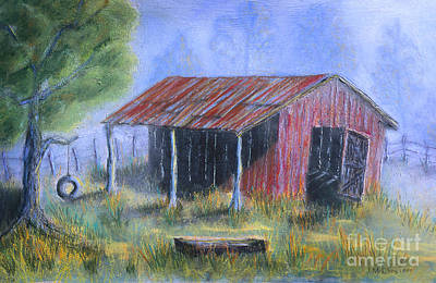 Tin Roof Painting - By The Barn Out Back by Jerry McElroy