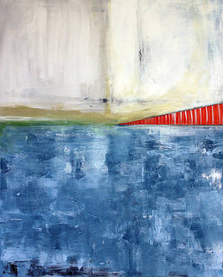 Abstract Landscape Mixed Media - By The Bay- Abstract Art by Linda Woods