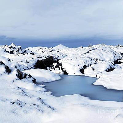 By The Blue Lagoon In Iceland Art Print by Agusta Gudrun  Olafsdottir