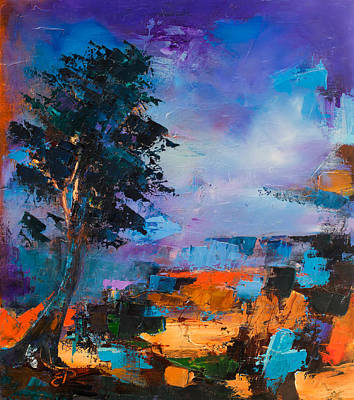 Living Colour Painting - By The Canyon by Elise Palmigiani