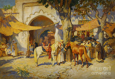 Ramadan Painting - By The City Gate by Celestial Images