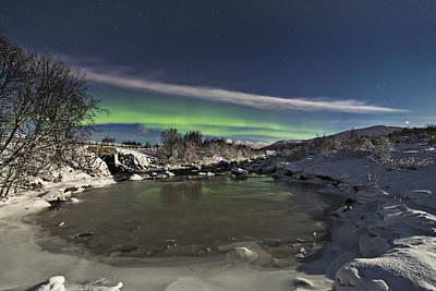 Aurora Borealis Photograph - By The Creek by Frank Olsen