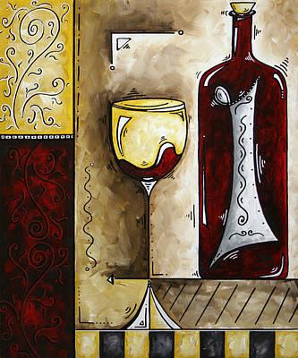 By The Fireside Original Madart Painting Original by Megan Duncanson