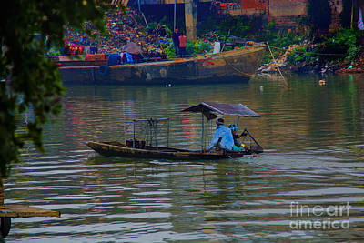 By The Flower Boat Art Print