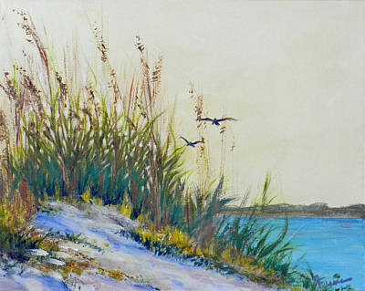 By The Intercoastal Art Print by Deborah Ferree