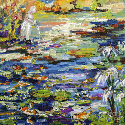 Painting - By The Lily Pond by Ginette Callaway
