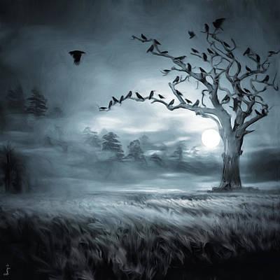 Surrealism Digital Art - By the Moonlight by Lourry Legarde