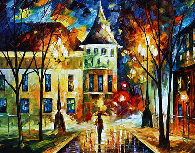 By The Old Castle Original by Leonid Afremov