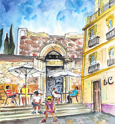 Architecture Drawing - By The Old Cathedral In Cartagena 01 by Miki De Goodaboom