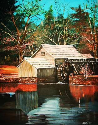 Painting - By The Old Mill Stream by Al Brown