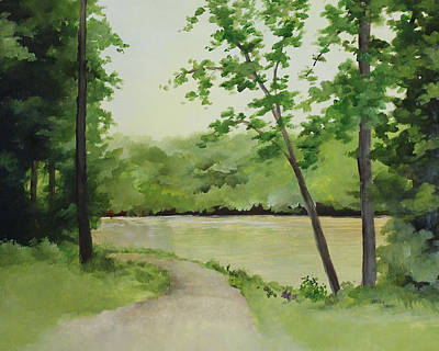 Painting - By The River by Becky West