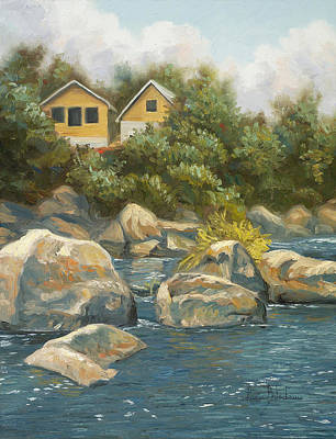 By The River Art Print by Lucie Bilodeau