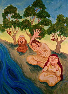 Painting - By The Rivers Of Babylon - Psalm 137 by Michele Myers
